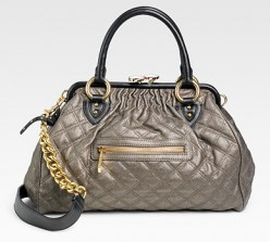 Quilting Metallic Stam Bag by Marc Jacobs- $1,395 at Saksfifthavenue.com