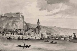1839 view of Dinant by Paul Lauters (1806-1875)