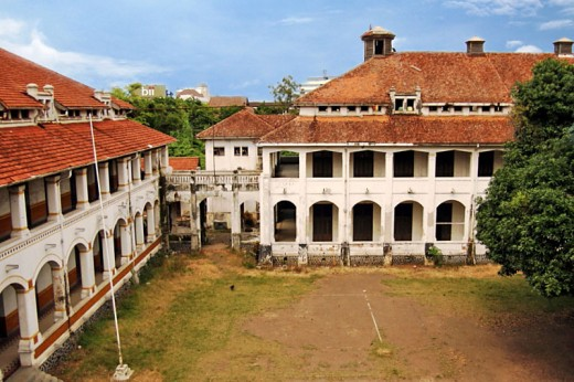 The yard of Lawang Sewu seen from the 3rd floor.