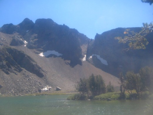 Roundtop Lake, near Carson Pass, in California's Northern Sierra Nevada Mountains