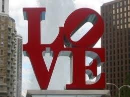 Love statue in Love Park, Philadelphia