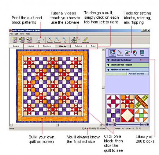 Quilting Software Interface