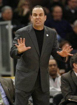 Mike Brey sporting a turtleneck