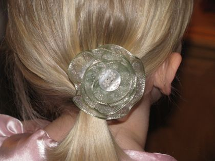 ribbon flower at Floral Showers Crafts
