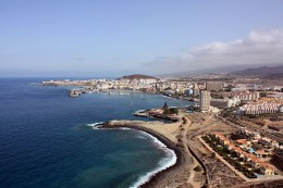 Los Cristianos, which has become a bit too British for David's liking