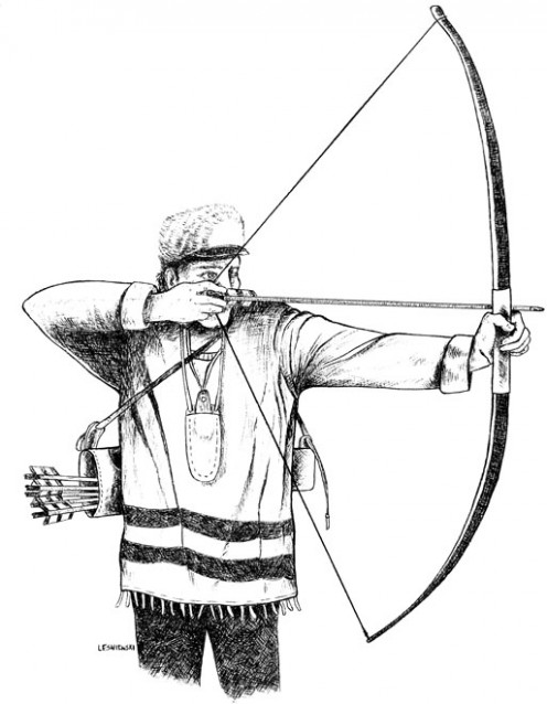 Mountain Archer:  done with a black ball point pen.