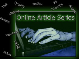 Writing Niche Cluster Articles takes dedication and research, so get use to Typing in the glow of your computer Screen!