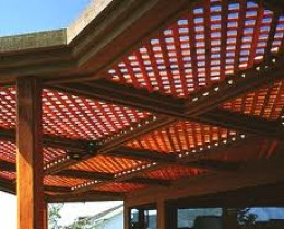 Latticed Wood Patio Cover