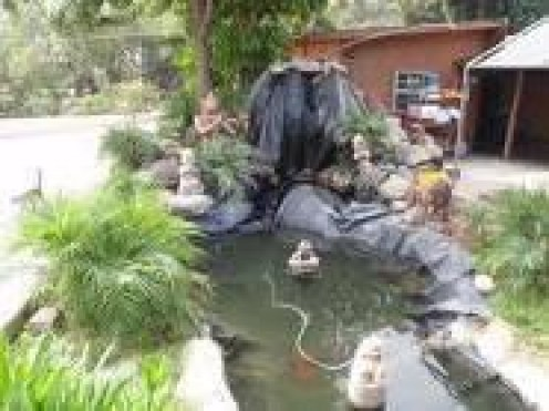 how to make a small water garden or fish pond hubpages