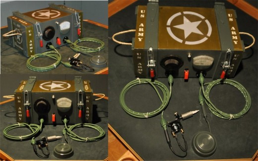 antique military custom antique tattoo power supply. just finished mar. 2011..