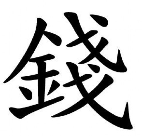 chinese symbol for money