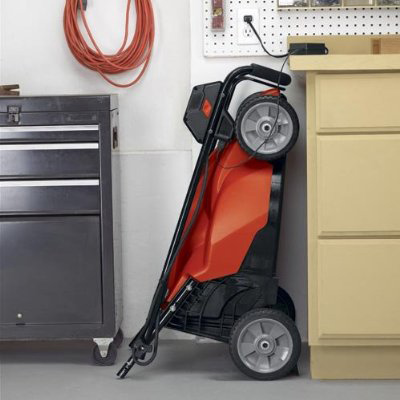 Compact mower charging battery 2016