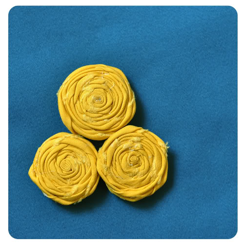rolled fabric flowers at My Sparkle
