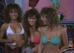 "Galyn Gorg, Barbara Horan & Ami Julius as the girls of ""The Malibu Bikini Shop"""
