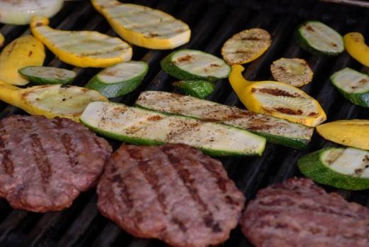 Homemade hamburgers - yum!
