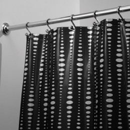 Stall Black and White Shower Curtains