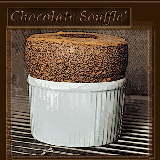 Chocolate Souffle raising high and beautiful!
