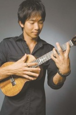 Jake Shimabukuro - a popular ukulele virtuoso  in Hawaii.