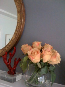 Fake flowers are an easy cheat to a brighter room.