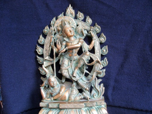 Shiva dancing on the demon