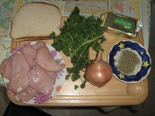 Ingredients for Roast Chicken and Stuffing