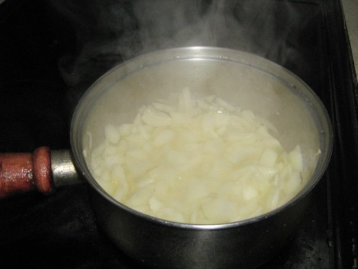 Gently cook on a low heat until soft and nearly brown