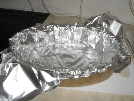 Add tin foil to the cooking dish