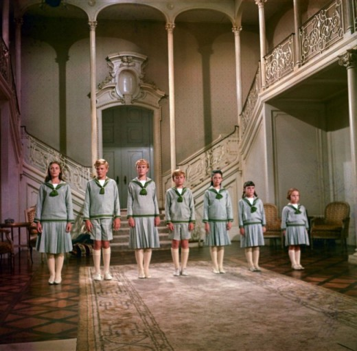 "The Von Trapp children in the movie version of ""The Sound of Music""."
