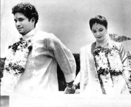 Sachin's Wedding Photo - Sachin Tendulkar With Dr. Anjali Tendulkar On Their Wedding Day