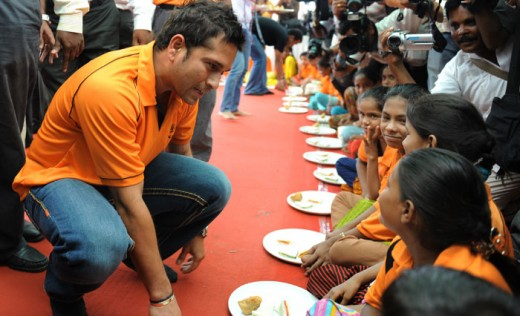 Sachin sponsoring food for the poor...