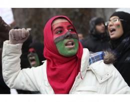 Libyan protester in NY
