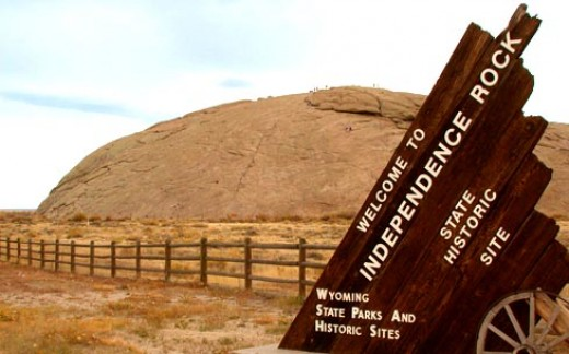 Independence Rock, Wyoming.