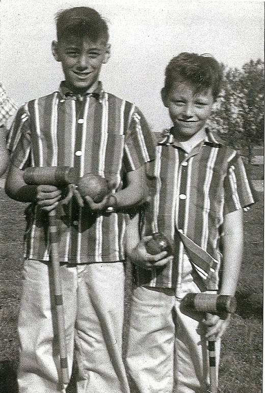 Croquet Set (Joe and Brother John)