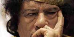 Gaddafi.  Planning his next move?
