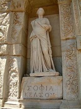 Statue in honor of Sophia, Goddess of Spirituality in Mature Women in Greek Mythology