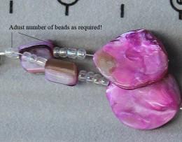 adjust beads according to artistic taste!