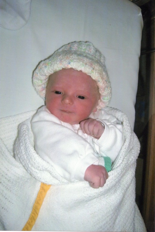 My beautiful baby grandson the day he blessed us.