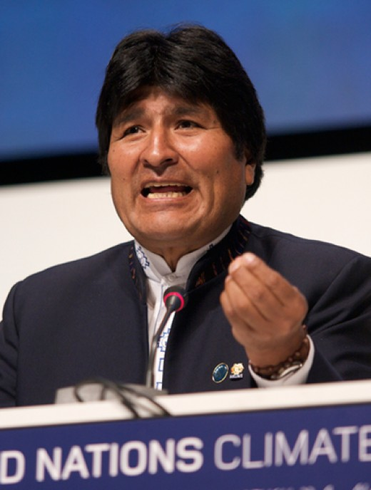 President Evo Morales - a growing voice in Latin America. Licensed under Creative Commons LicenseS 3.0. Author: Simon Wedege.