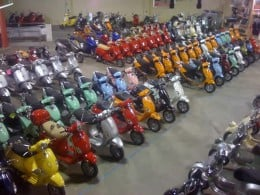 There are a wide variety of scooters available.