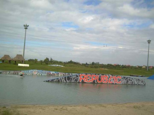 Th wakeboarding area