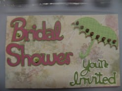 Easy to Make Bridal Shower Invitation Card Idea using a Cricut