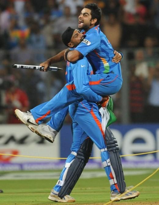 Virat Kohli and Harbhajan Singh are Ecstatic! :D