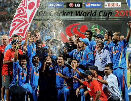 The Entire Indian Team Celebrates Their World Cup Victory 2011