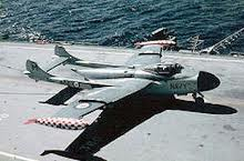 State of the art at the time, the Sea Venom.   The other half of Melbourne's compliment of warplanes.