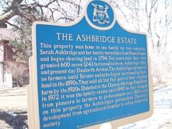 The Ontario Heritage Trust's Ashbridge Estate plaque