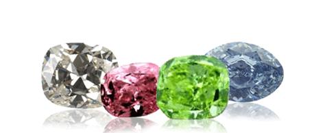 Fancy colored diamonds