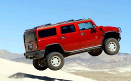 The Hummer is a gas guzzler and incidently came out initially as a war front vehicle.