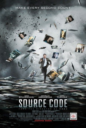 This is the cover art for Source Code. The cover art copyright is believed to belong to the distributor of the film, Summit Entertainment, or the publisher of the film.