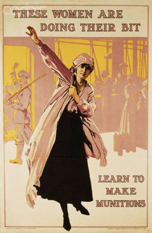 Munition Recruitment Poster 1914-1918