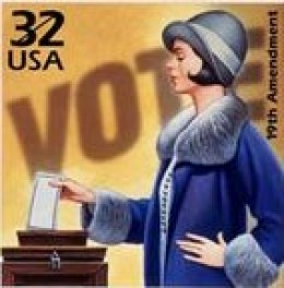 Woman Voting Stamp